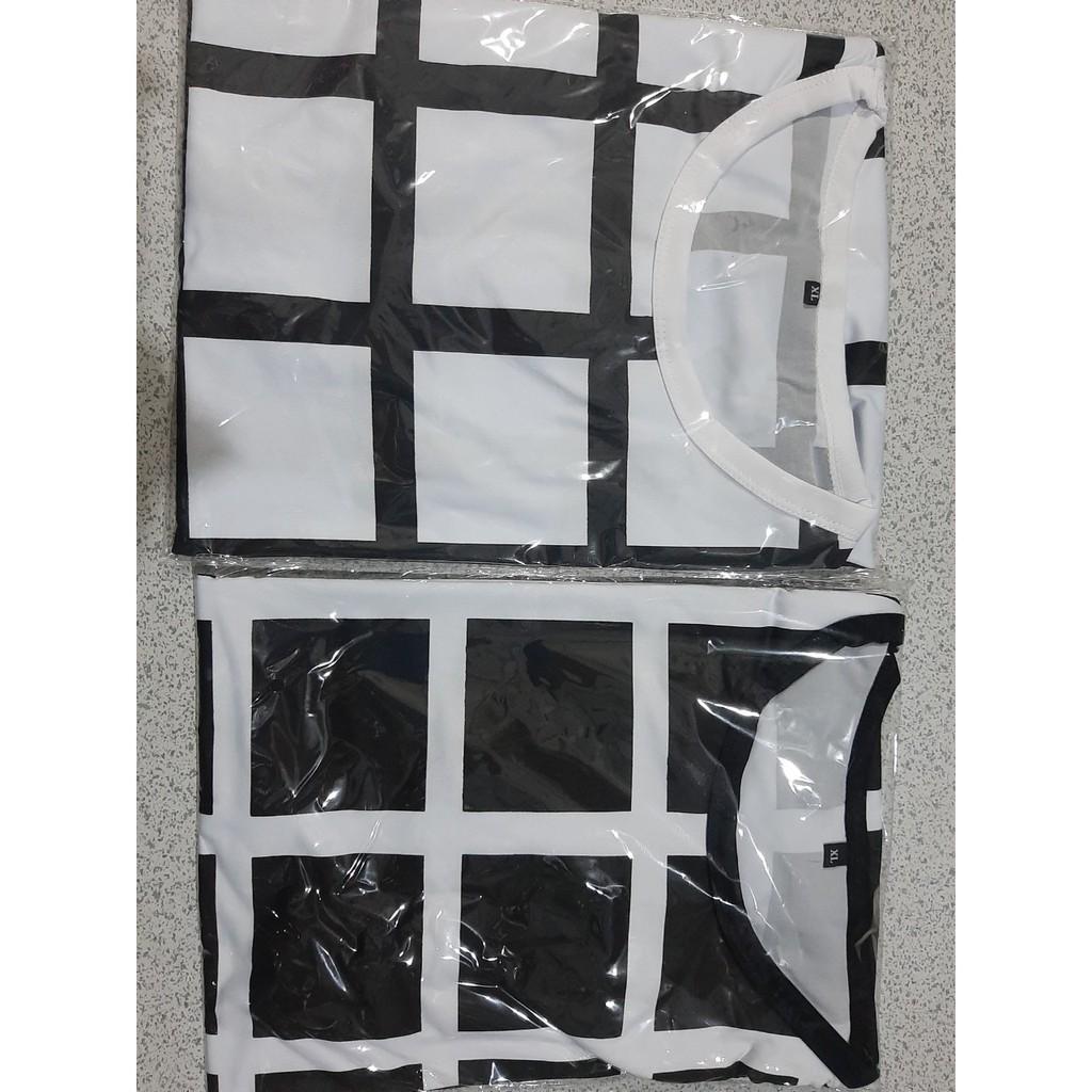Áo thun nam ngắn tay TN54 sọc vuông mẫu mới về vải sợi tre tổng hợp
