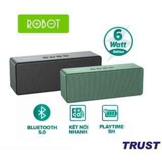 Loa Bluetooth ROBOT RB420 Công Suất 6W Hỗ trợ TWS ghép đôi 2 loa Âm thanh vòm hỗ trợ thẻ nhớ và cổng AUX/USB - Hàng Chín