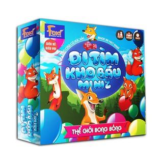 Board game-Đi tìm kho báu mini 2 Foxi-đồ chơi phát triển tư duy-dễ chơi-vui nhộn-giá siêu rẻ