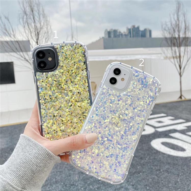 Ốp Điện Thoại Đính Kim Sa Lấp Lánh Cho Iphone 11 Pro Maxxr 7 Se 8 Plus 7 Plus