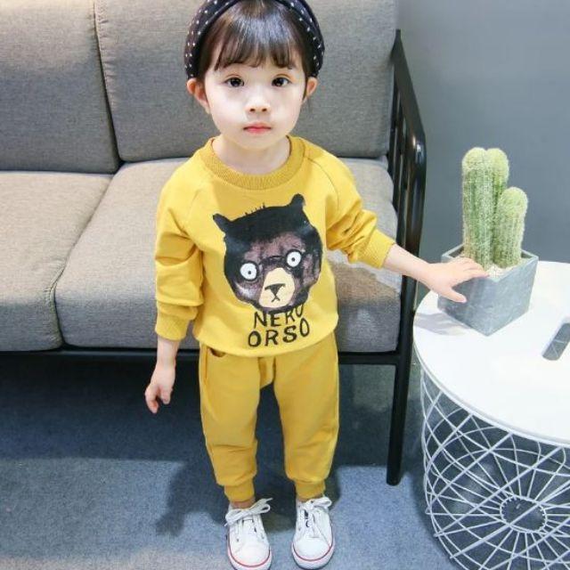Bộ quần áo thu đông màu vàng cho bé trai và bé gái (qate27) - 3221353 , 1271024103 , 322_1271024103 , 55000 , Bo-quan-ao-thu-dong-mau-vang-cho-be-trai-va-be-gai-qate27-322_1271024103 , shopee.vn , Bộ quần áo thu đông màu vàng cho bé trai và bé gái (qate27)