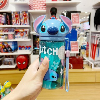 Shanghai Disney Star Baby Straw Cup Stitch Cup with lid Child Straw Cup Stitch Portable Cup