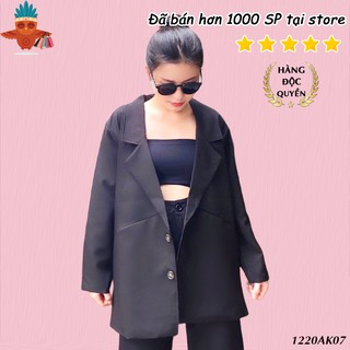 Áo blazer nữ đen trơn khoác vest 2 lớp dáng dài kiểu túi mổ THOCA HOUSE dễ phối đồ, phong cách trẻ trung, hiện đại thumbnail