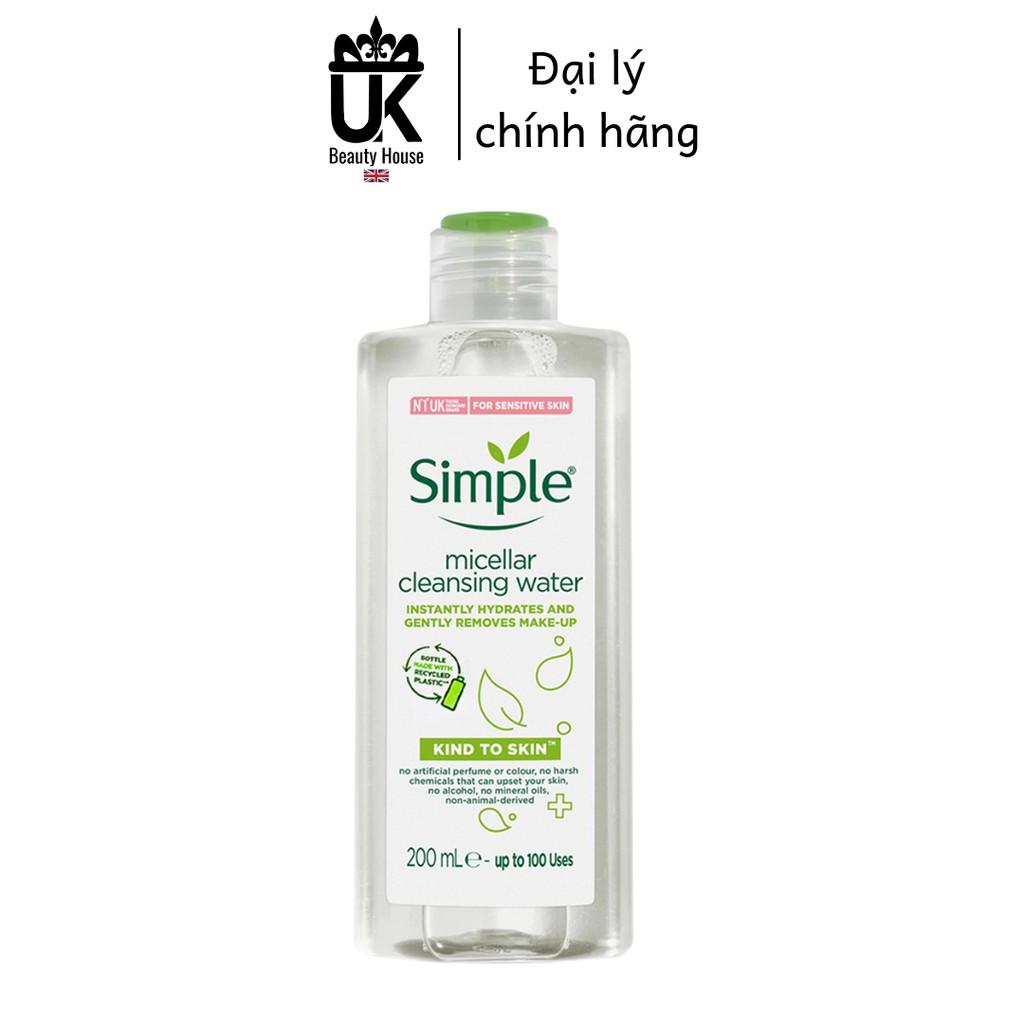 Nước Tẩy Trang Simple Micellar Cleansing Water 200ml