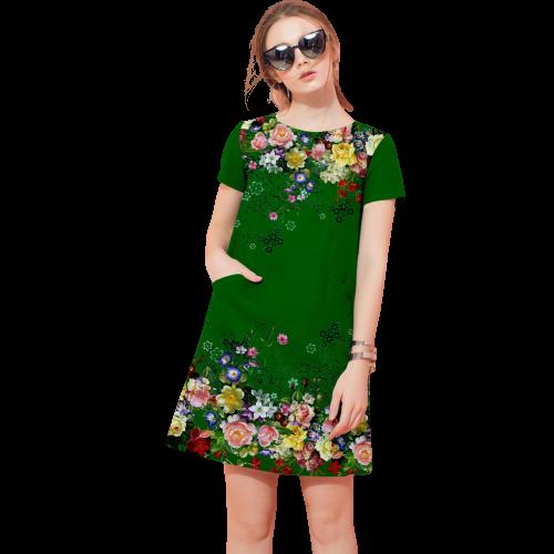 Đầm nữ dáng suông in 3D sành điệu TONIKIM V6