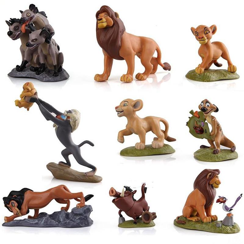 9pcs/set Educational Toy The Lion King Figures Collection Movie Simba Toy Doll Cake Topper Gift