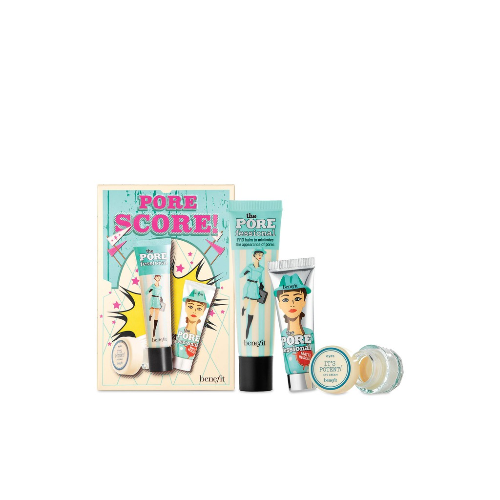Set Kem Lót Mắt Benefit Cosmetics - PORE SCORE complexion set for pores & under-eyes