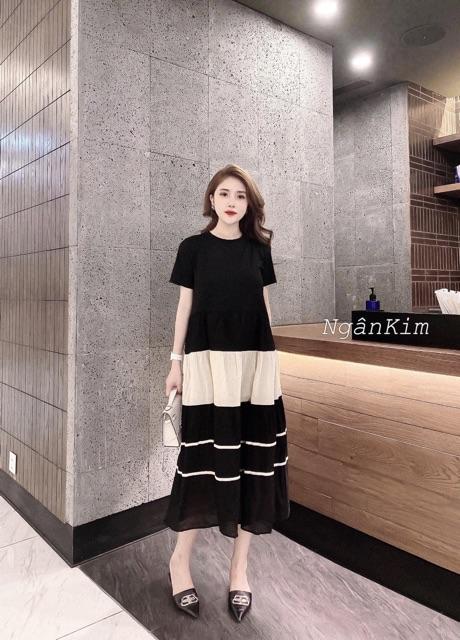 Mặc gì đẹp: Dễ chịu với [Xả Kho] Váy bầu cotton cao cấp💕thiết kế sang chảnh💕đầm bầu chất cotton siêu đẹp, mát mềm mịn💕Free size 43~72kg