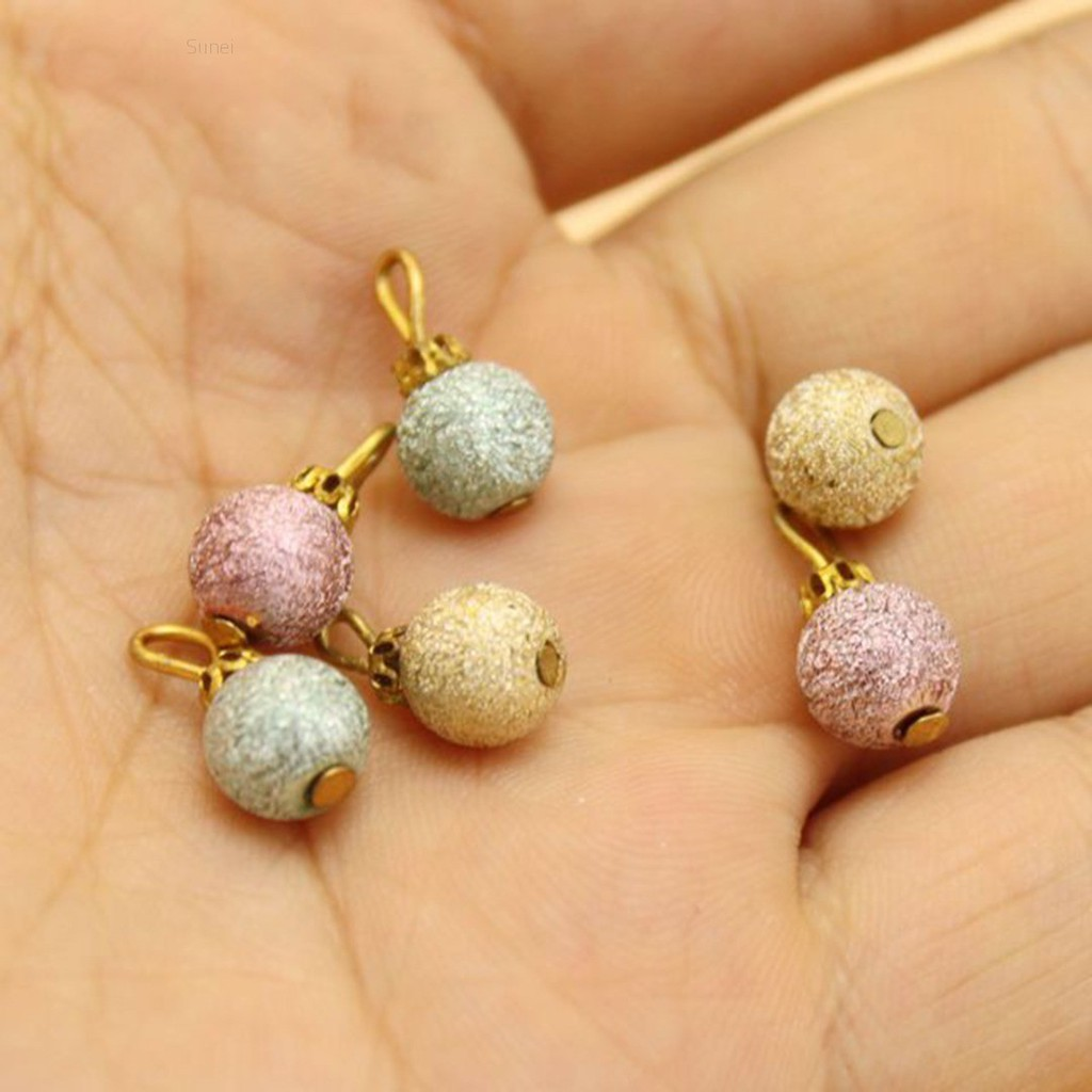 💗Sunei💗6Pcs Colorful Beads For 1:12 Miniature Dollhouse Christmas Tree Decoration