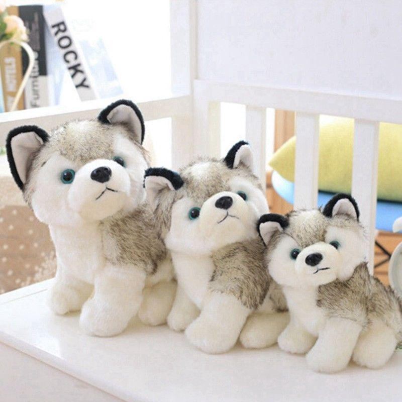 New Plush Stuffed Husky Dog Toy Doll Birthday Girl friend Gift for Kids