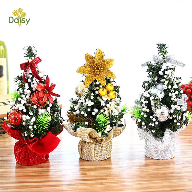 Mini Merry Christmas Tree Bedroom Desk Decoration Office Home Children Gift Christmas Decor