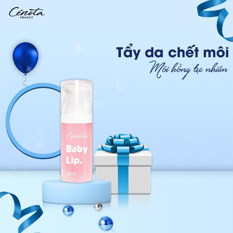 Gel tẩy da chết Cénota Baby Lip, Gel tẩy da chết trị thâm môi - C41 Shino_cosmetic