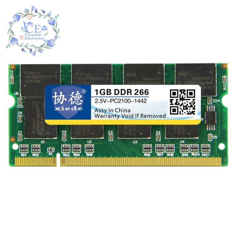 Xiede Laptop Memory Ram Module Ddr 1GB Ddr1 200Pin Dimm For Notebook