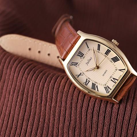 Đồng hồ nam Julius JA-703 dây da   Julius Official