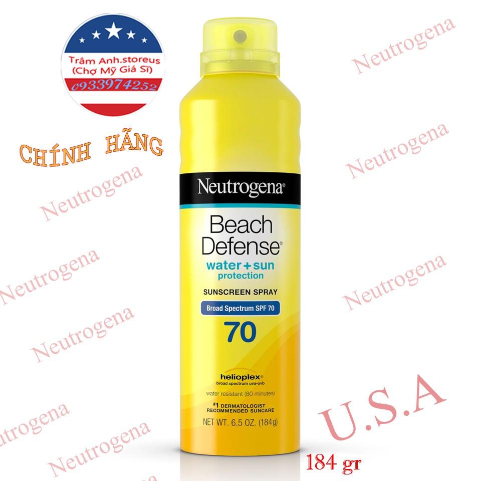 Xịt chống nắng Neutrogena Beach Defense SPF 70 (Date 2022)