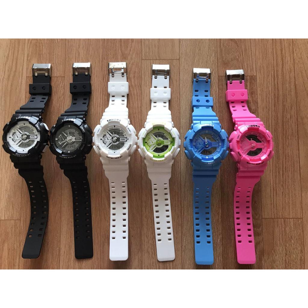 (giá sỉ)Đồng hồ thể thao nam nữ SHHORS Dây Nhựa QA120