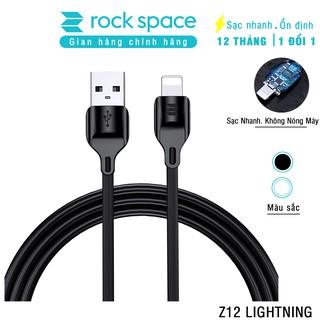 Cáp sạc iphone RockSpace Z12, sạc nhanh iphone, ổn định, không nóng máy, độ dài 1m, hàng chính hãng, Bảo hành 1 năm