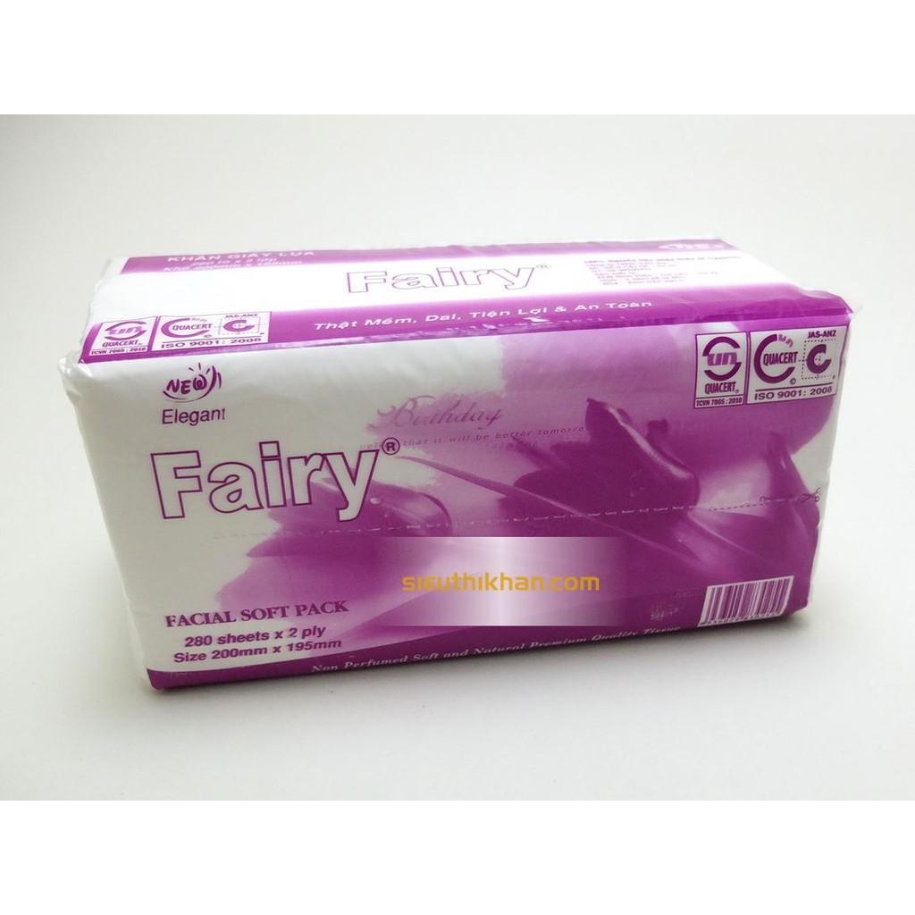 Combo 6 gói giấy lụa rút Fairy hình chữ nhật
