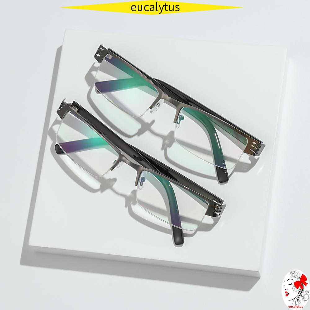 🌸EUTUS🌸 Ultralight Presbyopic Eyewear Resin Reading Glasses Anti-blue Light Eyeglasses Vision Care Men Women Fashion Retro Classic Radiation Protection Computer...