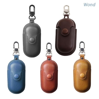 Wond Leather Earphone Case Luxury Protective Cover with Keychain for Hua-wei Freebuds 3i Wieless Headset Charging Box