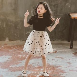 Đầm ngôi sao công chúa cho bé gái lớn size đại [15-45kg] (có sẵn + ảnh thật)