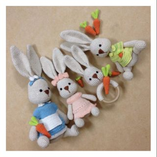 Set thỏ móc len