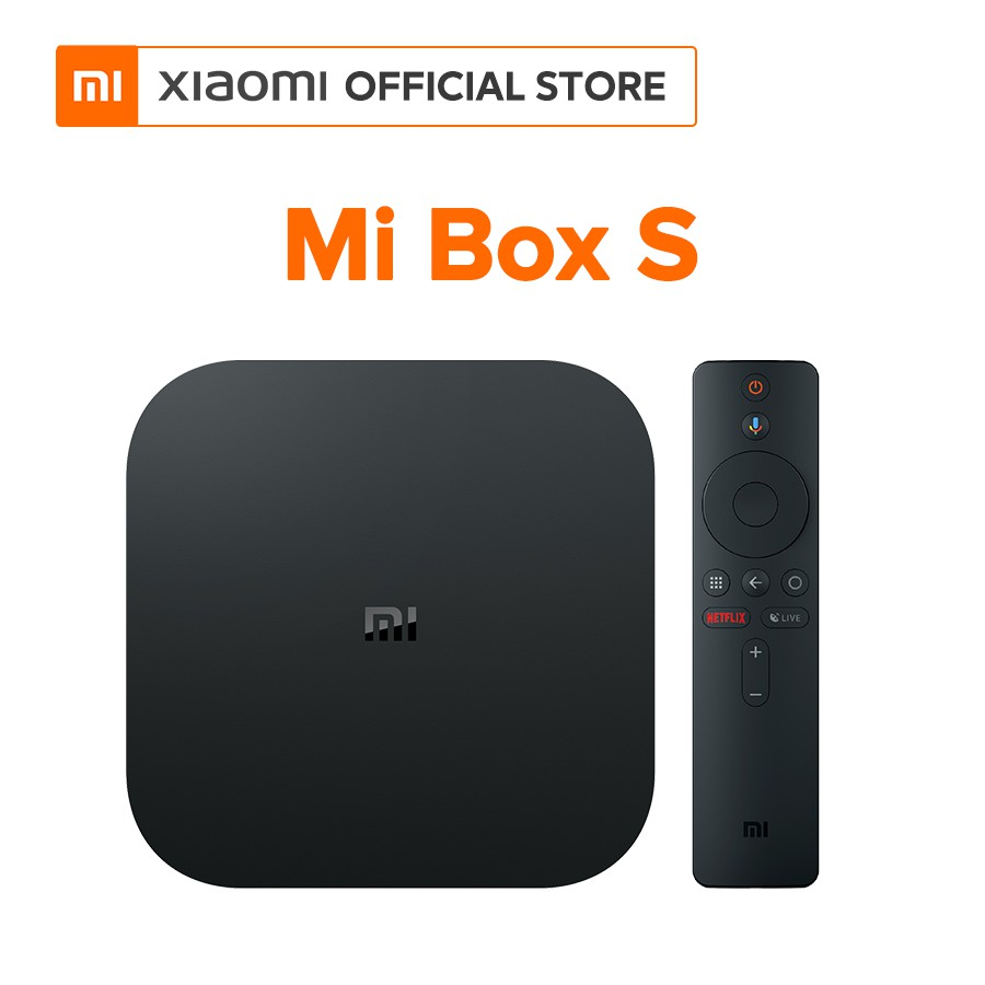 Android Tivi Box Xiaomi Mibox S 4K Global (Android 8.1) - Hàng chính hãng - Bảo hành 12 tháng