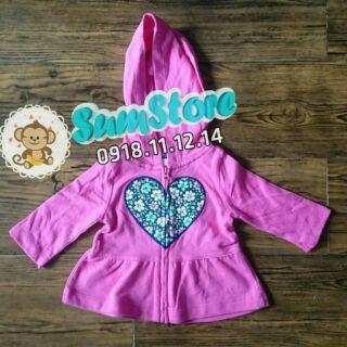 Áo khoác Carter hình trái tim dành cho bé gái thumbnail