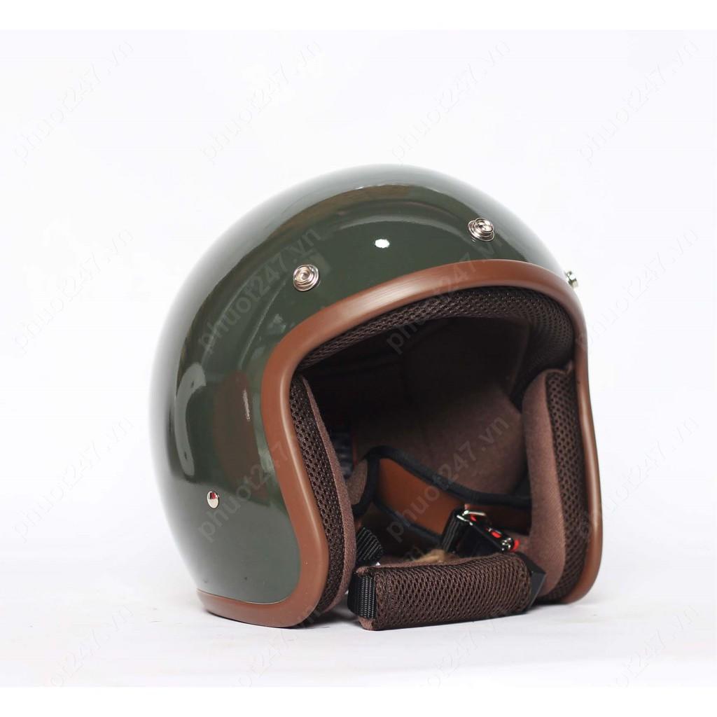 Mũ bảo hiểm 3/4 đầu Avex Lava Dome - Xanh lính bóng