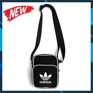 [RẺ VÔ ĐỊCH] Túi đeo chéo mini A.di.das vải dù trượt nước – logo lớn – bảo hành trọn đời khóa kéo
