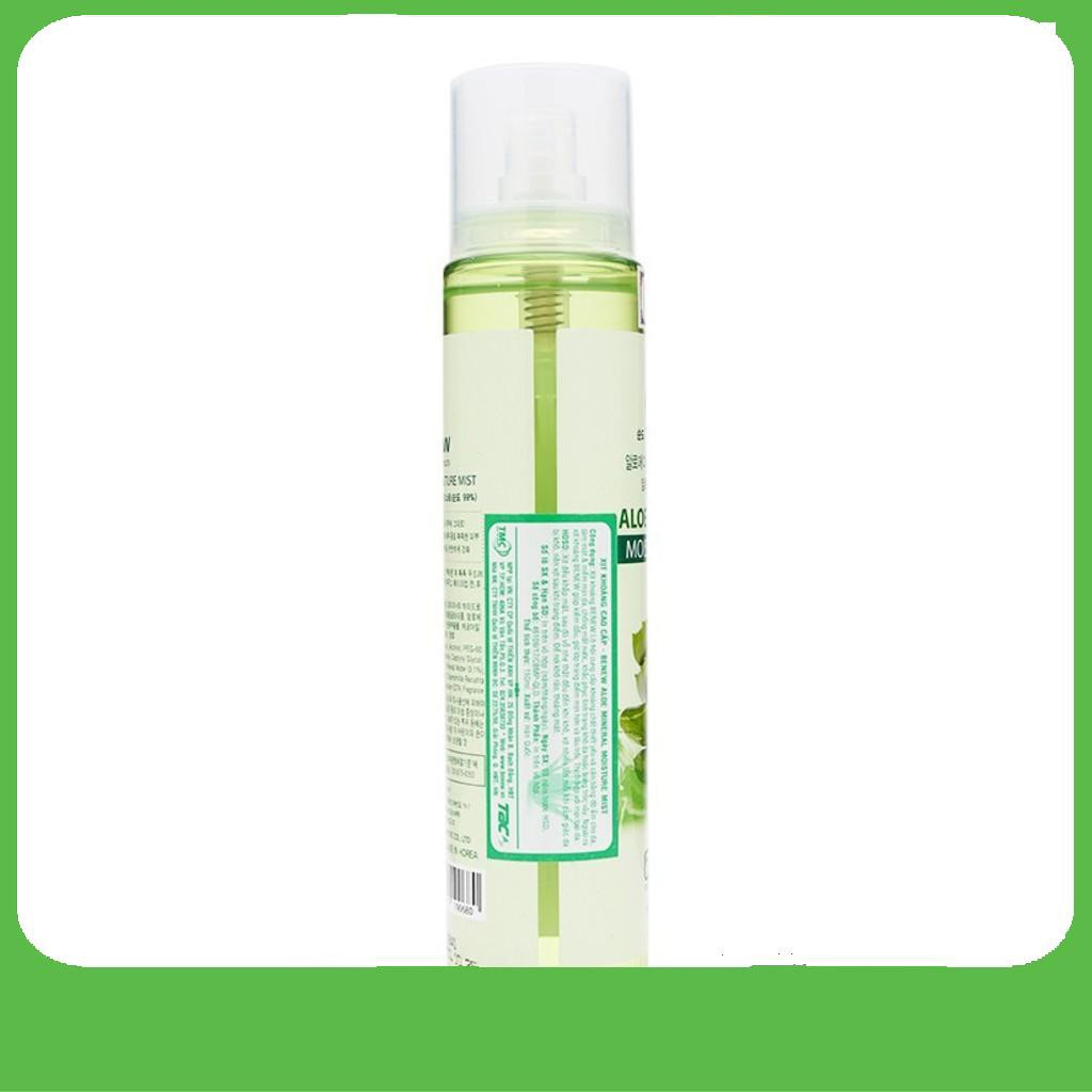 [Big Sale]  Xịt khoáng cao cấp Benew Aloe Mineral Moisture Mist 150ml