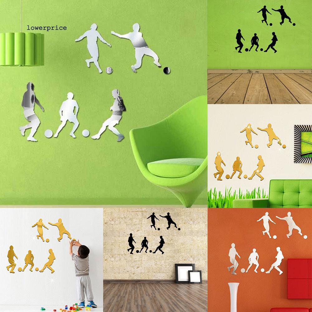 Sticker dán tường họa tiết hình cầu thủ bóng đá dùng trong trang trí phòng khách