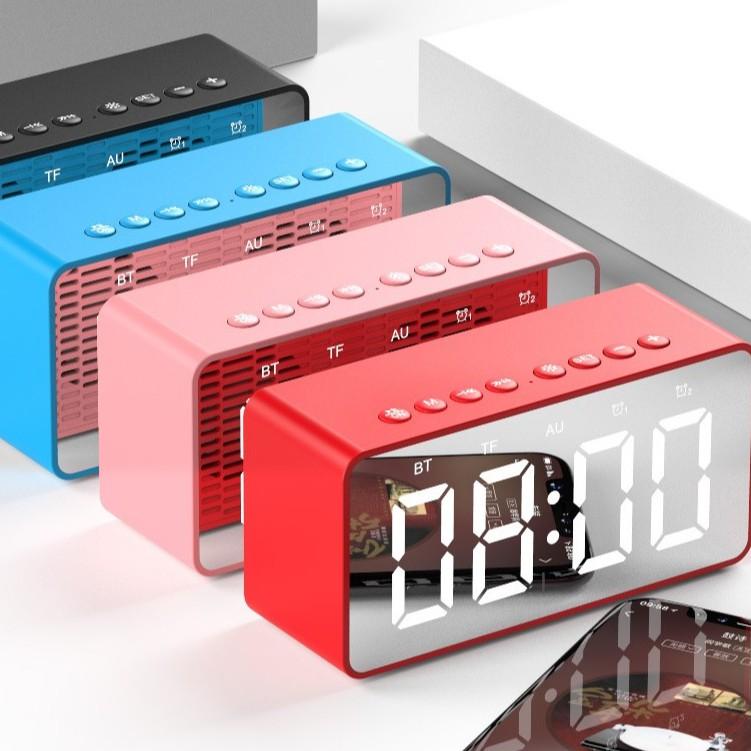 💥Loa Bluetooth thu FM💥 Đọc thẻ nhớ micro SD TF - kết nối ngõ AUX jắc 3.5mm máy tính có dây - đồng hồ báo thức Led .