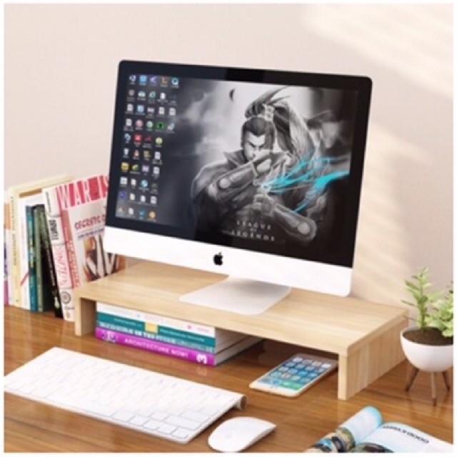 [HÀNG LOẠI 1] KỆ ĐỂ MÁY TÍNH KÈM GIÁ SÁCH - Kệ để màn hình máy tính để bàn có hộc tài liệu
