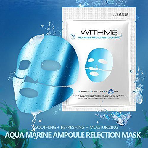 """Kết quả hình ảnh cho Mặt nạ cấp nước WithMe Aqua Marine Ampoule Reflection Mask"""""""