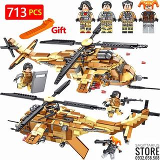 Lego Lắp Ráp Trực Thăng Chiến Đấu FC3418 ( 713 Mảnh )