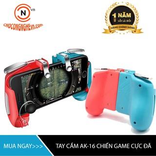 [GIÁ HỦY DIỆT] Tay cầm chơi game PUBG, Rules Of Survival kèm nút bắn joystick kim loại AK-16 (Hỗ trợ chơi game sinh tồn) thumbnail