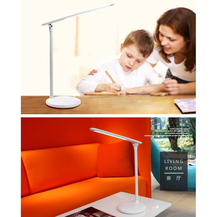 Đèn bàn, đèn đọc sách, đèn led chống cận tích hợp pin sạc, công tắc cảm ứng thay đổi cường độ và màu sắc - L1901