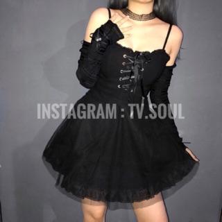 Đầm ren công chúa ( đen / trắng )