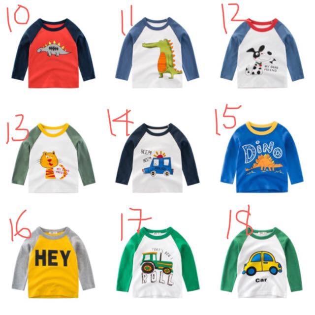 Áo 27 kids dài tay mùa thu cho bé trai (màu 12-19)