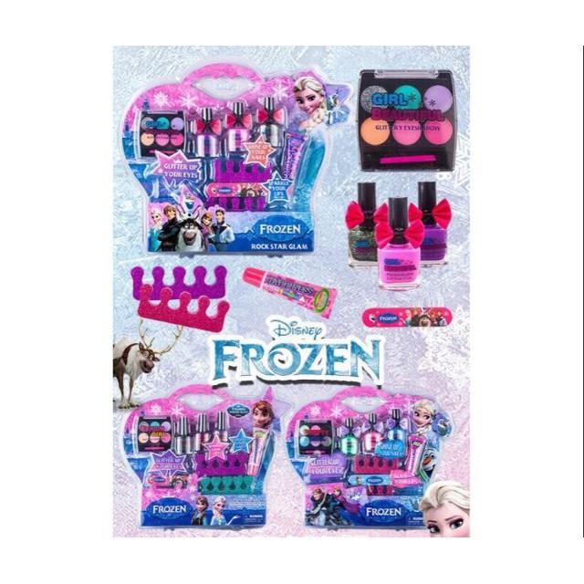 Vỉ đồ chơi trang điểm thật, sơn móng tay thật công chúa Elsa