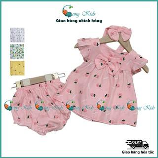 Bộ đồ bé gái mùa hè, 5 màu vải đũi lạnh siêu mềm, mịn, mát. Set 3 chi tiết bé gái, đồ bộ bé gái, quần áo trẻ em