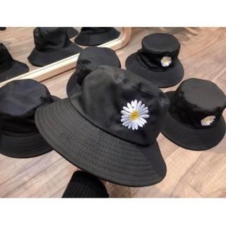 Yêu Thích(Ảnh Thật) Mũ bucket nam nữ nón tai bèo thêu Hoa Cúc vành tròn vải thoáng khí