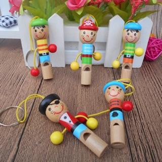 Còi gỗ dễ thương nhiều màu cho bé[Rẻ Vô Địch]