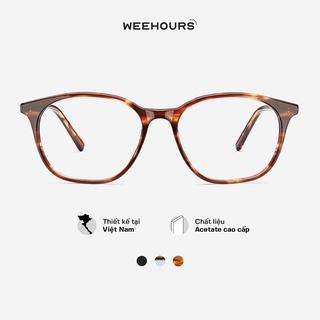 Gọng kính cận nam nữ WeeHours HAF, dáng vuông thời trang, nhựa Acetate cao cấp thumbnail