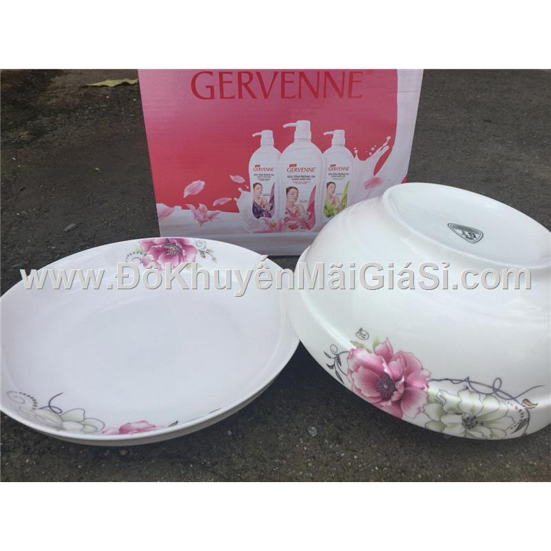 Bộ 1 tô + 1 dĩa sứ in hoa mẫu đơn có nhũ - Sữa tắm Gervenne tặng. - 3340947 , 1164996208 , 322_1164996208 , 35000 , Bo-1-to-1-dia-su-in-hoa-mau-don-co-nhu-Sua-tam-Gervenne-tang.-322_1164996208 , shopee.vn , Bộ 1 tô + 1 dĩa sứ in hoa mẫu đơn có nhũ - Sữa tắm Gervenne tặng.