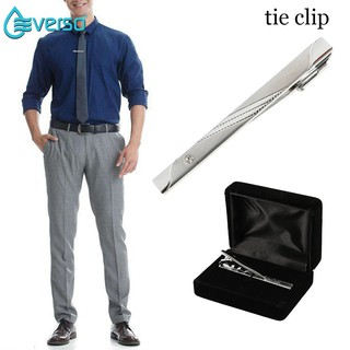 everso Wedding Gift Necktie Tie Clasps Clip Pin Men Clothing Accessories