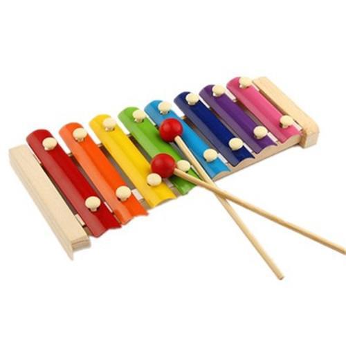 Baby Kid Musical Toys Xylophone Wisdom Development Wooden Instrument