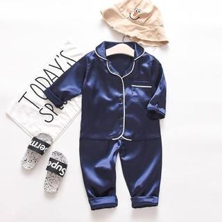 [Mã FASHIONXANH15 giảm 10K đơn 50K] Xả kho bộ Pijama lụa cao cấp cho bé từ 6-22kg