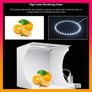 Hộp chụp ảnh sản phẩm PULUZ 23 cm đèn LED vòng